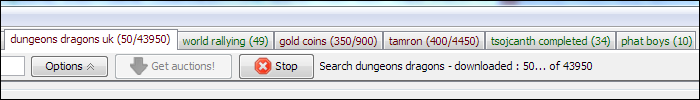 Tab Colors with Auction Counts